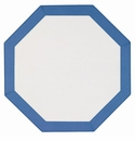 Bodrum Bordino White Periwinkle Octagon Place Mats 6 Pack