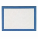 Bodrum Bordino White Periwinkle Rectangle Place Mats 6 Pack