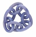 Bodrum Chain Link Periwinkle Napkin Rings 4 Pack