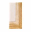 "Bodrum Cornice Light Gold 22"" Napkins 6 Pack"