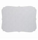 Bodrum Curly Antique White Oblong Place Mats 6 Pack