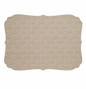 Bodrum Curly Beige Place Mats 6 Pack