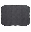 Bodrum Curly Charcoal Oblong Place Mats 6 Pack
