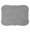 Bodrum Curly Gray Oblong Place Mats 6 Pack