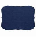 Bodrum Curly Navy Oblong Place Mats 6 Pack
