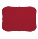 Bodrum Curly Red Oblong Place Mats 6 Pack