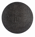 "Bodrum Gator Charcoal 16"" Round Place Mats 6 Pack"
