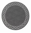 "Bodrum Helix Charcoal Silver 15"" Round Place Mats 6 Pack"