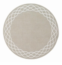 "Bodrum Helix Khaki White 15"" Round Place Mats 6 Pack"