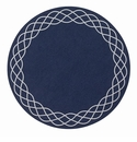 "Bodrum Helix Navy Gunmetal 15"" Round Place Mats 6 Pack"