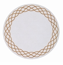 "Bodrum Helix White Gold 15"" Round Place Mats 6 Pack"