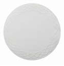 "Bodrum Helix White Pearl 15"" Round Place Mats 6 Pack"