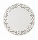 "Bodrum Helix White Silver 15"" Round Place Mats 6 Pack"