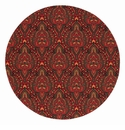 "Bodrum Kashmir Red 15"" Round Place Mats 6 Pack"
