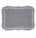 Bodrum Laurel Gray White Place Mats 6 Pack