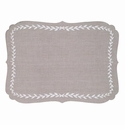 Bodrum Laurel Oatmeal White Place Mats 6 Pack