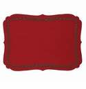 Bodrum Laurel Red Evergreen Place Mats 6 Pack