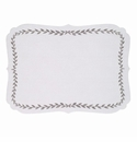 Bodrum Laurel White Silver Place Mats 6 Pack