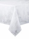 Bodrum Leaves White 108 Round Table Cloth