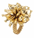 Bodrum Mineral Bloom Gold Napkin Rings 4 Pack