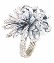 Bodrum Mineral Bloom Silver Napkin Rings 4 Pack