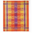 Bodrum Modena Roosters Orange Dish Towels 6 Pack