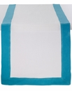 Bodrum Orta White/Turquoise Table Runner