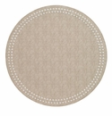 Bodrum Pearls Beige White Place Mats 6 Pack