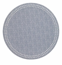 Bodrum Pearls Bluebell White Place Mats 6 Pack