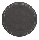 Bodrum Pearls Charcoal Gunmetal Place Mats 6 Pack