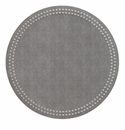 Bodrum Pearls Gray Silver Place Mats 6 Pack
