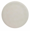 Bodrum Pearls White Place Mats 6 Pack