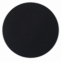 "Bodrum Skate Black 16"" Round Place Mats 6 Pack"
