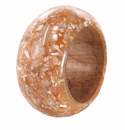Bodrum Tectus Shell Apricot Napkin Rings 4 Pack