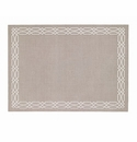 Bodrum Trellis Oatmeal White Place Mats 6 Pack