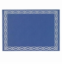 Bodrum Trellis Periwinkle White Place Mats 6 Pack