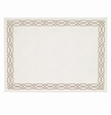 Bodrum Trellis White Taupe Place Mats 6 Pack