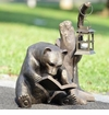 Book Lover Bear Garden Lantern by SPI Home