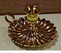 "Dessau Home Brass Chamberstick Candleholder 3"" H x 5"" D Home Decor"
