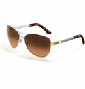 Brighton Acoma Aviator Sunglasses