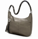 Brighton Barbados Metallic Ziptop Hobo