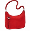 Brighton Barbados Red Ziptop Hobo