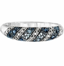 Brighton Blue Crystal Voyage Heart Hinged Bangle