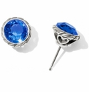Brighton Blue Iris Sapphire Stud Earrings