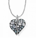 Brighton Blue Trust Your Journey Heart Necklace
