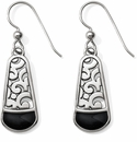 Brighton Catania  Black French Wire Earrings
