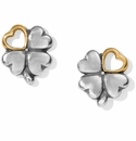 Brighton Clover Heart Mini Post Earrings