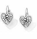 Brighton Contempo Heart Leverback Earrings
