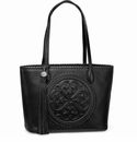 Brighton Emilia Medium Medallion Handbag - Black