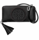 Brighton Ferrara Large Zip Around Wallet-Black